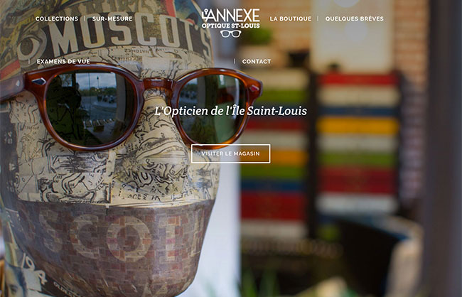 l'annexe optique ile saint louis identity webdesign webdeveloment